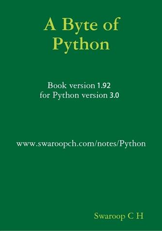 A byte of Python v1.92 (for Python 3.0)