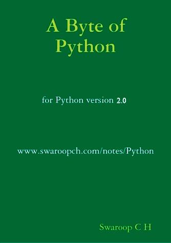 A Byte of Python (for Python v.2)