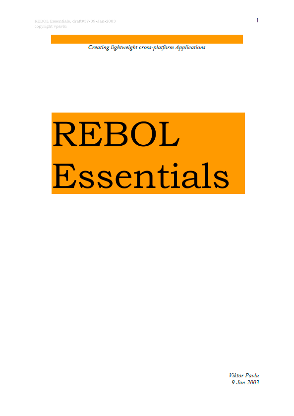 REBOL Essentials