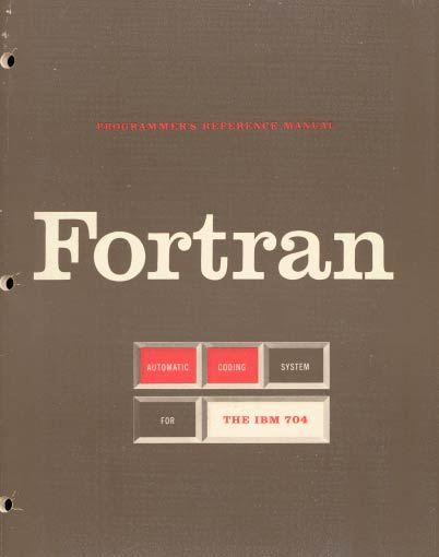 Fortran. Programmers Reference Manual