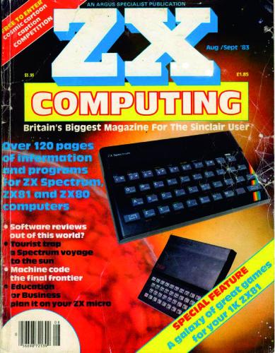 ZX Computing Magazine (Agosto-Septiembre 1983)