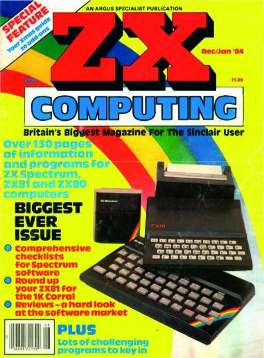 ZX Computing Magazine (Diciembre-Enero 1984)