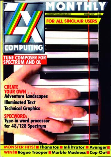 ZX Computing Magazine (Enero 1987)