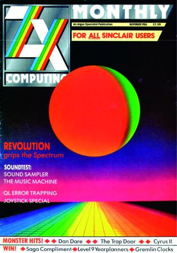 ZX Computing Magazine (Noviembre 1986)