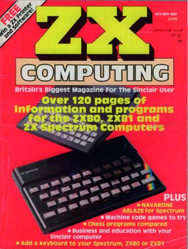ZX Computing Magazine (Octubre-Noviembre 1982)