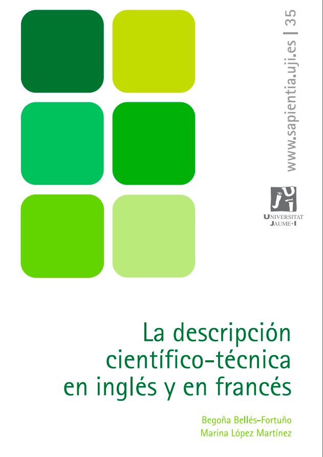La descripción científico-técnica en inglés y en francés