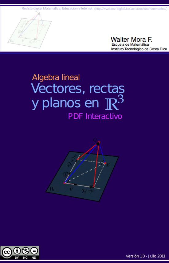 Algebra lineal: Vectores, rectas y planos en R3