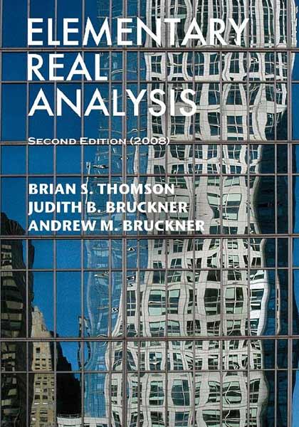Elementary Real Analysis