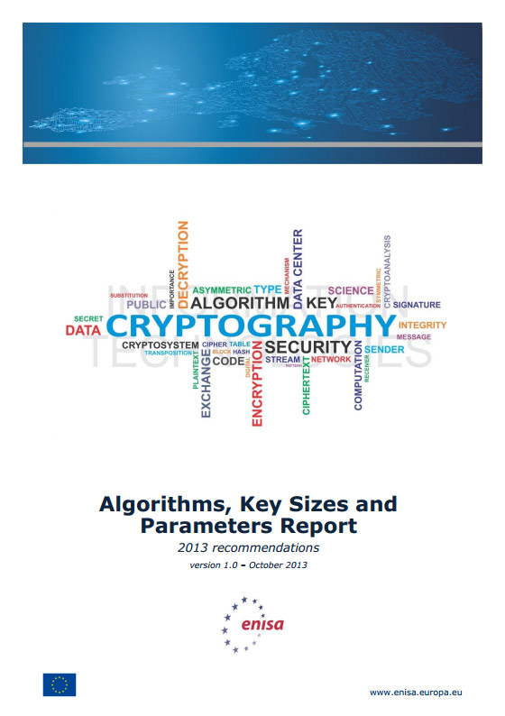 Algorithms, Key Sizes and Parameters Report