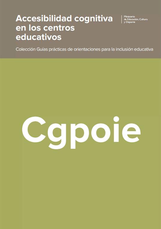Accesibilidad cognitiva en centros educativos