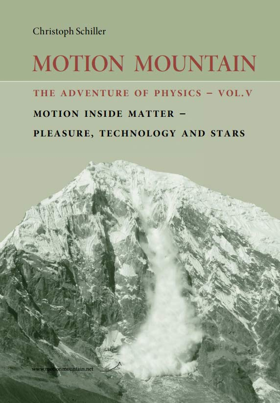 MOTION MOUNTAIN: The adventure of physics – Vol V