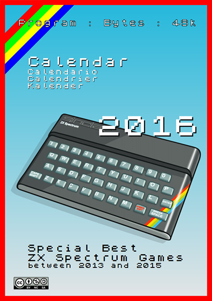 Calendar 2016 - Special Best ZX Spectrum Games