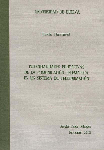 Potencialidades educativas de la comunicación telemática en un sistema de teleformación