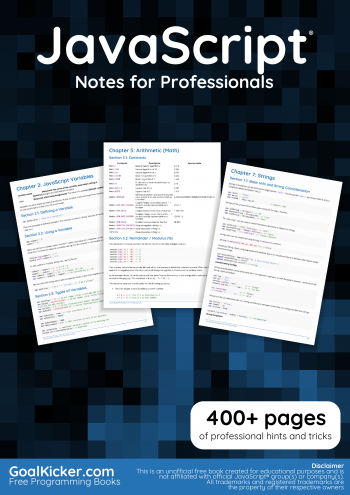 JavaScript Notes for Professional