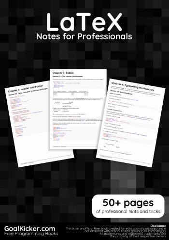 LaTeX Notes for Professionals