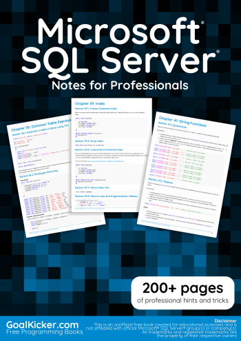 Microsoft SQL Server Notes for Professionals