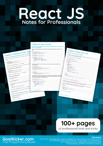 React JS Notes for Professionals