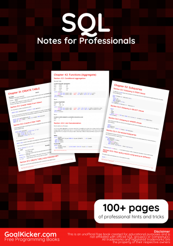 SQL Notes for Professionals