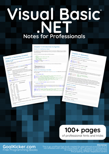 Visual Basic .NET Notes for Professionals