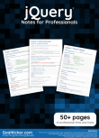 jQuery Notes for Professionals